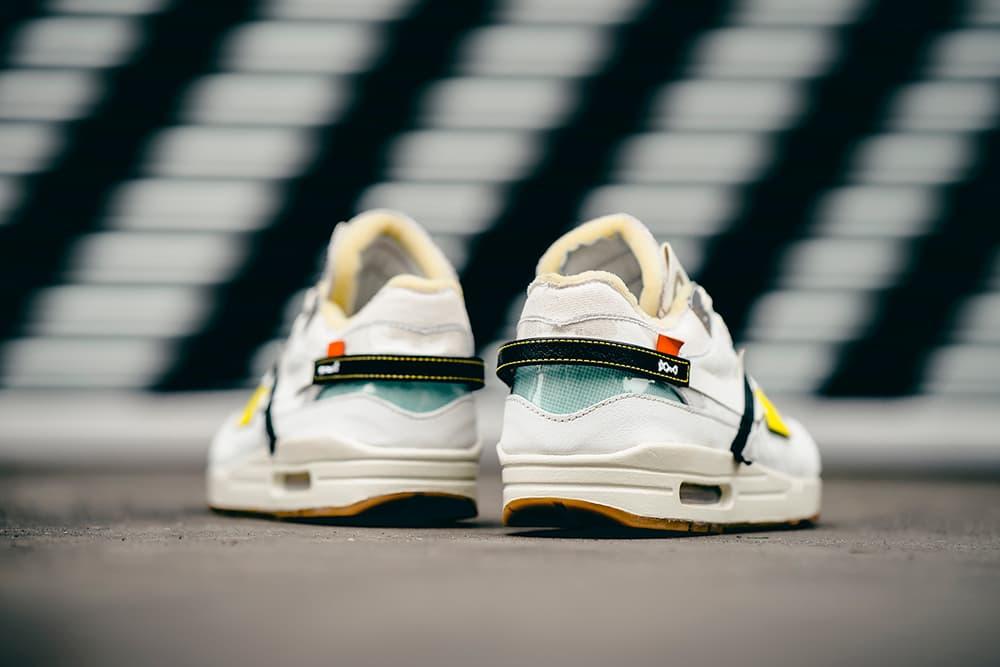 BespokeIND Off White Nike Air Max 1 Custom Footwear Shoes Sneakers