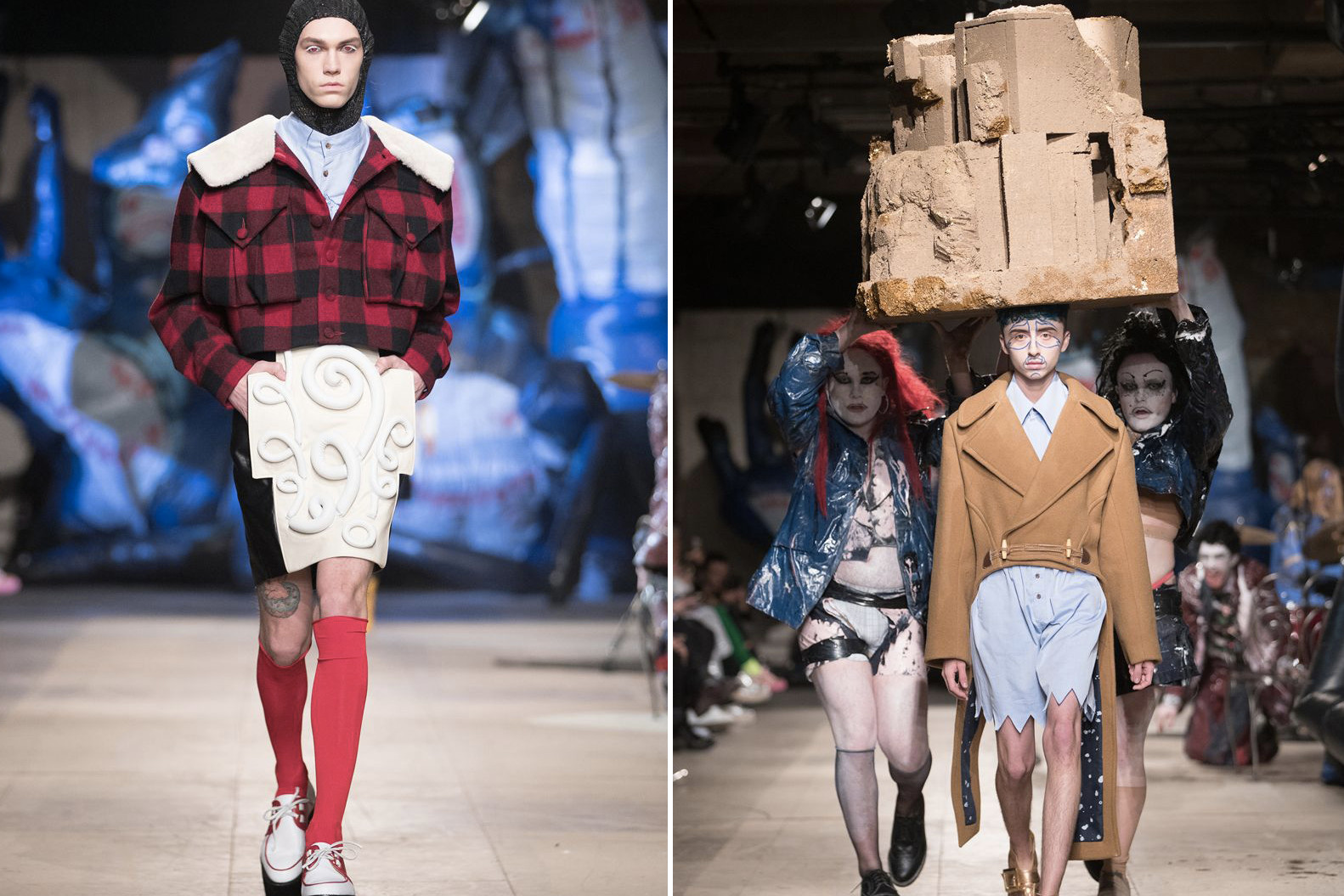 Best of London Fashion Week: Men's Fall/Winter 2018 Paria Farzaneh Charles Jeffrey LOVERBOY Craig Green Nicholas Daley Rottingdean Bazaar