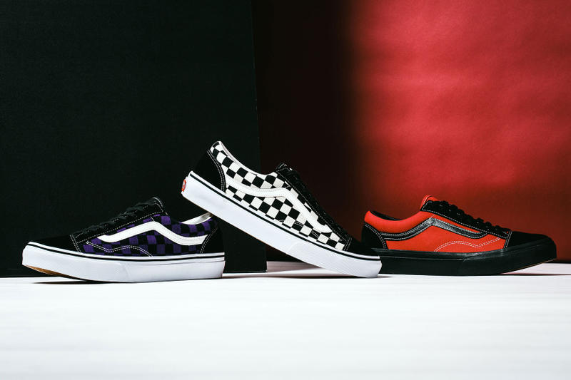 cb8fa6d340 BILLYS Vans Uneven asymmetric Old Skool Collaboration japan tokyo red white  blue checkerboard Release Info Drops