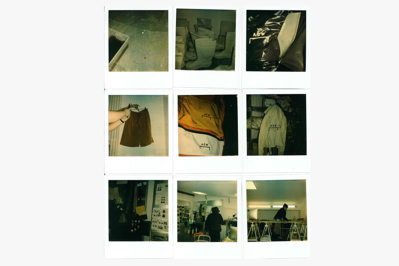 London Fashion Week: Mens Fall/Winter 2018 Behind The Scenes Polaroids from A-COLD-WALL*, Wales Bonner, Liam Hodges, Kiko Kostadinov