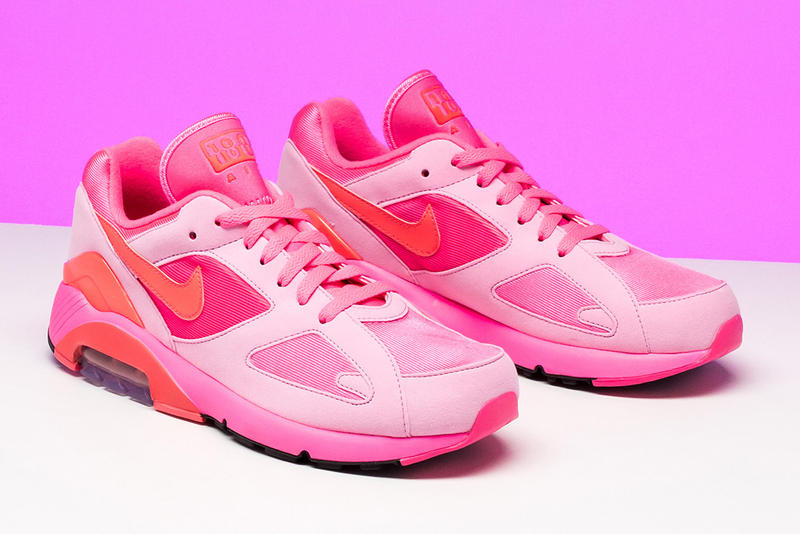 COMME Des GARÇONS Nike Air Max 180 Pink White Black Solar Red February 1 Release