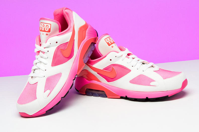 571324d0f81 COMME Des GARÇONS Nike Air Max 180 Pink White Black Solar Red February 1  Release