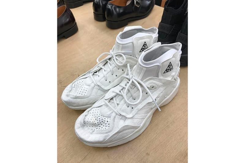 COMME des GARÇONS HOMME Plus Nike ACG Mowabb Closer Look White Black