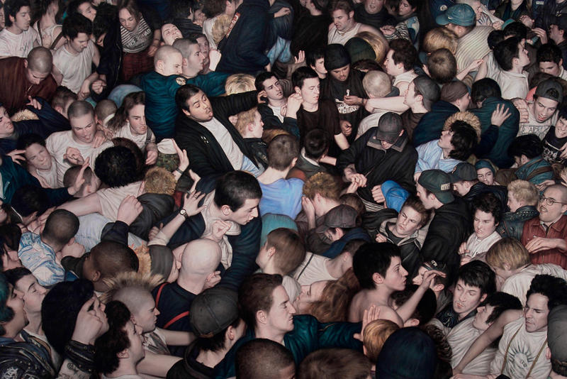 Dan Witz Mosh Pit Paintings Art Artwork Exhibit Exhibitions Stolenspace