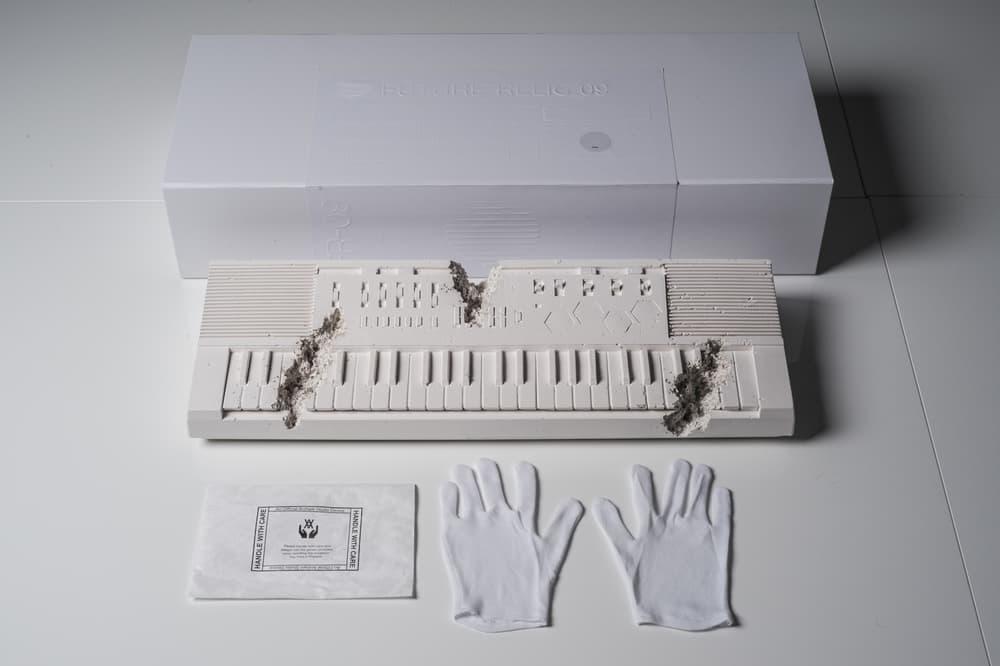 Daniel Arsham Future Relic 09 Artworks Art Keyboard Collectible Casio Casiotone MT 500 Keyboard White
