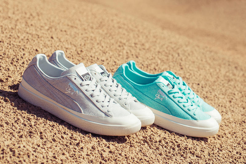 Puma & Diamond Supply Co. Spring/Summer 2018 Collaboration Suede Clyde Court Side Abyss Tiffany Blue Sneakers Shoes Suede Grey Skateboarding Skate Culture