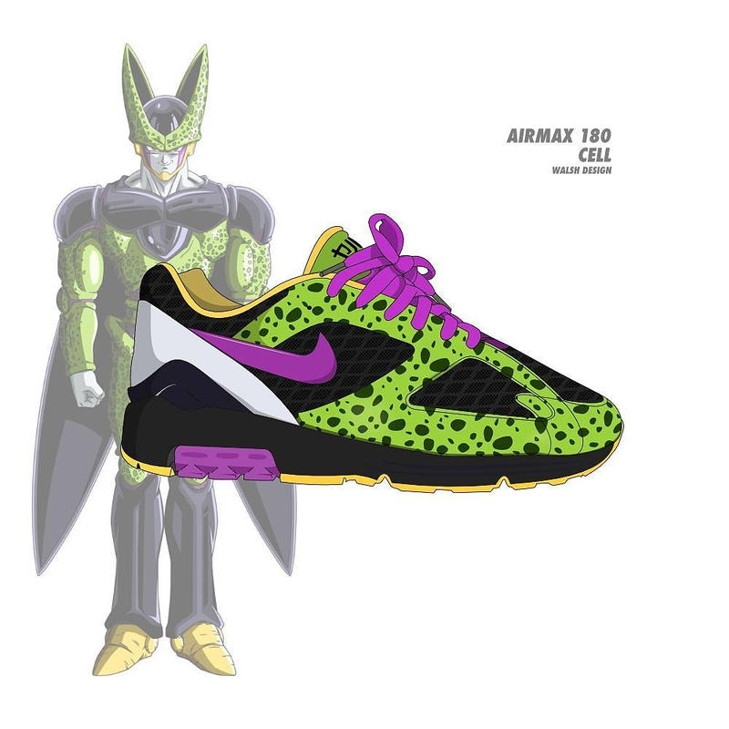 sports shoes a35cc 44f4c Dragon Ball Z Nike Collaboration Footwear Sneaker Shoe walshdesign adidas  illustrator goku shenron frieza cooler vegeta