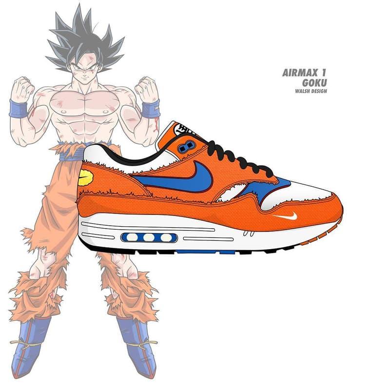 4d0f4fb47bf0 Dragon Ball Z Nike Collaboration Footwear Sneaker Shoe walshdesign adidas  illustrator goku shenron frieza cooler vegeta