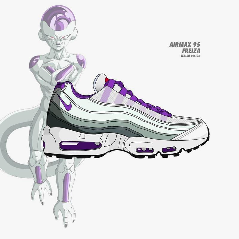 Dragon Ball Z Nike Collaboration Footwear Sneaker Shoe walshdesign adidas illustrator goku shenron frieza cooler vegeta bulma master roshi trunks buu air max vapormax