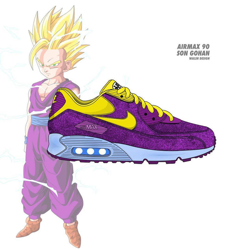 sports shoes a914f 58d02 Dragon Ball Z Nike Collaboration Footwear Sneaker Shoe walshdesign adidas  illustrator goku shenron frieza cooler vegeta