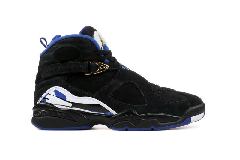 los angeles 53f44 1922c Drake OVO Nike Air Jordan 8 Calipari Kentucky JB Jordan Brand Exclusive PE  Black White Blue