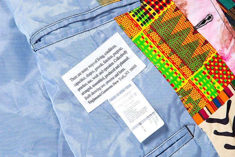 Engineered Garments Andover Jacket Spring Summer 2018 Patchwork Prints