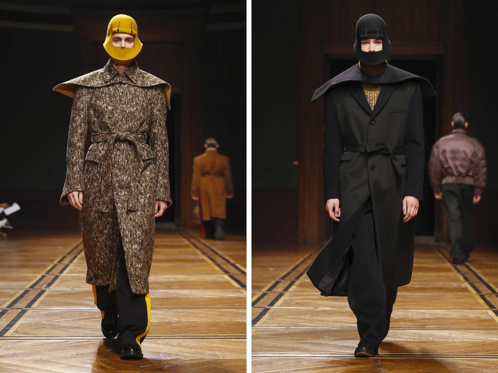Face mask fashion trend fall winter 2018 fashion week