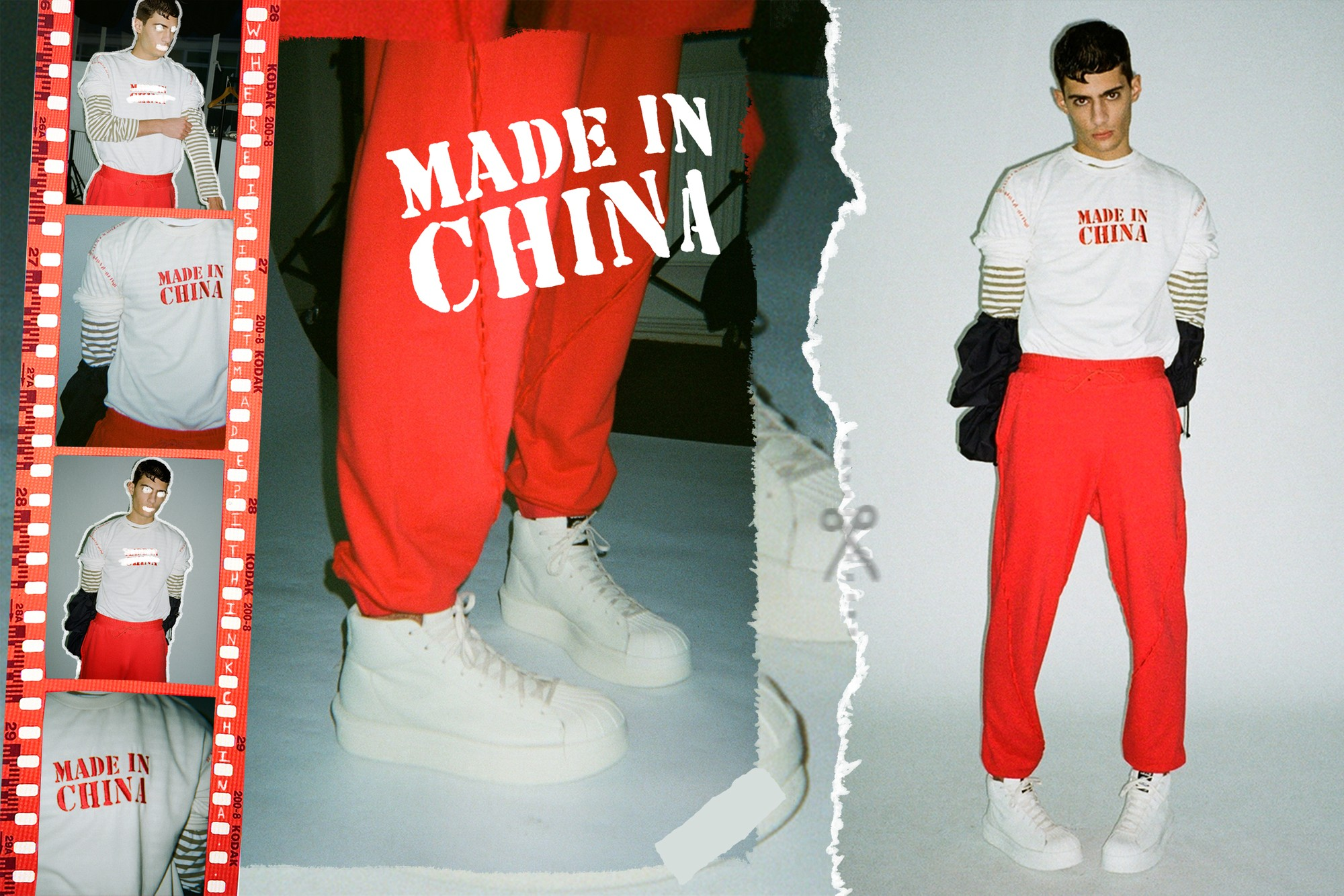 Feng Chen Wang Editorial Feature Nike Levi's Trucker Jacket Jordan Brand FlyKnit Virgil Abloh Off-White