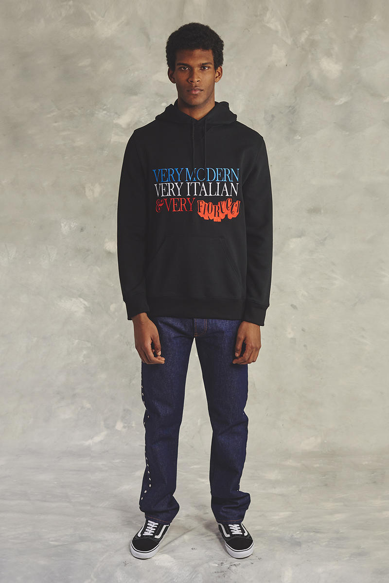 Fiorucci Fall 2018 Collection Lookbook Jacket Hoodies T-Shirt Shirt Trousers Jeans Pants