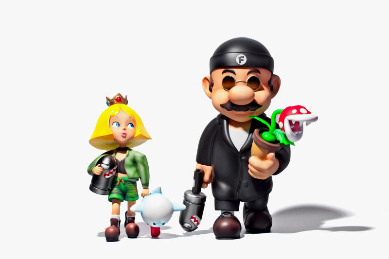 Super Mario x Leon The Professional Vinyl Toys Fools Paradise figurines movies video games bullet bill boo pirhana plant