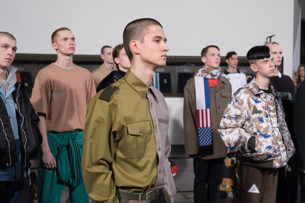 Gosha Rubchinskiy 2018 Spring Summer Closer Look Yekaterinburg Yeltsin Center Museum adidas Levi's Burberry Dr. Martens