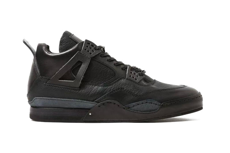new products bba00 6e613 Hender Scheme Manual Industrial Product 10 Air Jordan 4 Black Leather  Homage Line Release