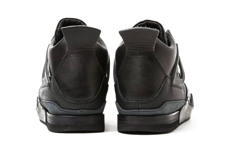 new products 0e843 7caab Hender Scheme Manual Industrial Product 10 Air Jordan 4 Black Leather  Homage Line Release