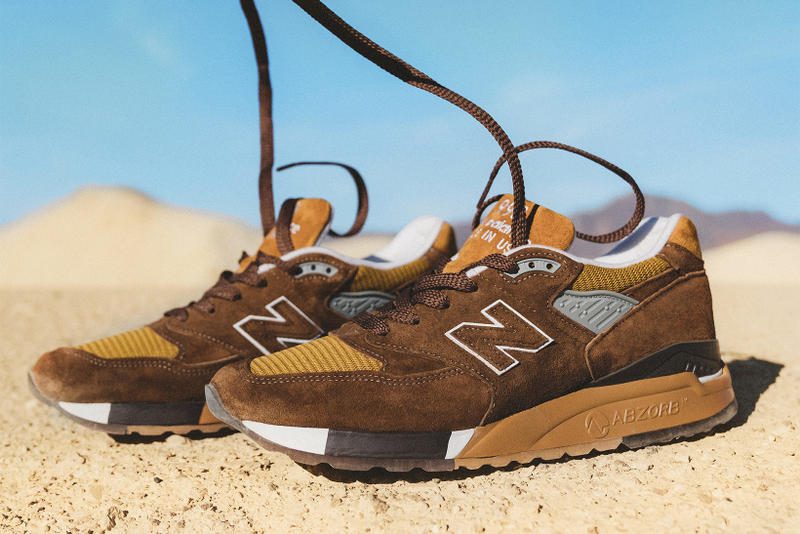 J Crew New Balance 998 National Parks Pack 2018 January 26 Release Date Info Sneakers Shoes Footwear Death Valley Crater Lake brown blue