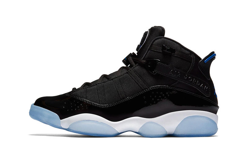 online retailer 11284 57006 Air Jordan 6 Rings Black Hyper Royal White