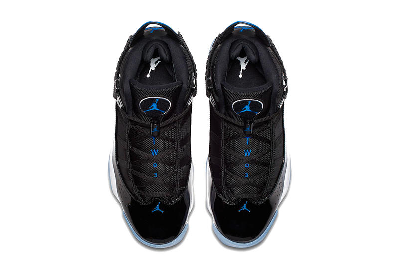Air Jordan 6 Rings Black Hyper Royal White 2e82da95a