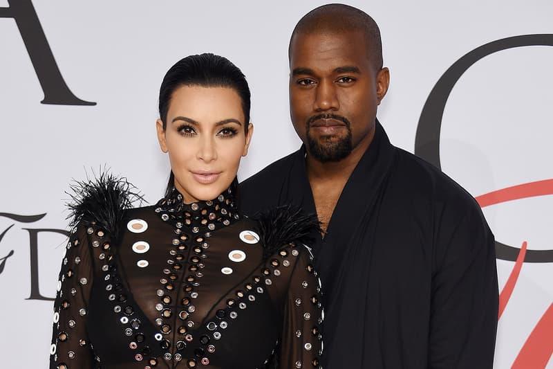 Kim Kardashian Kanye West Chicago West North West Saint West entertainment