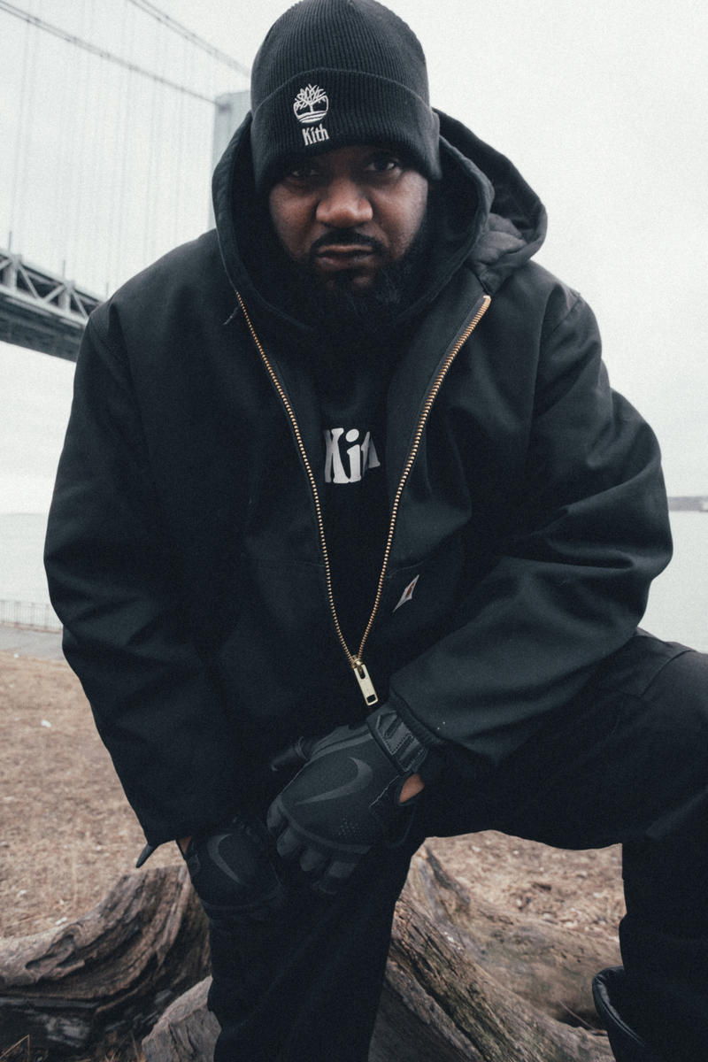 KITH Timberland Collection lookbook hoodie t shirt beanie cap Ghostface Killah Raekwon fashion Wu Tang