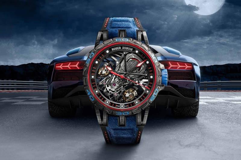 Roger Dubuis Lamborghini Excalibur Aventador S Blue Carbon Squadra Corse