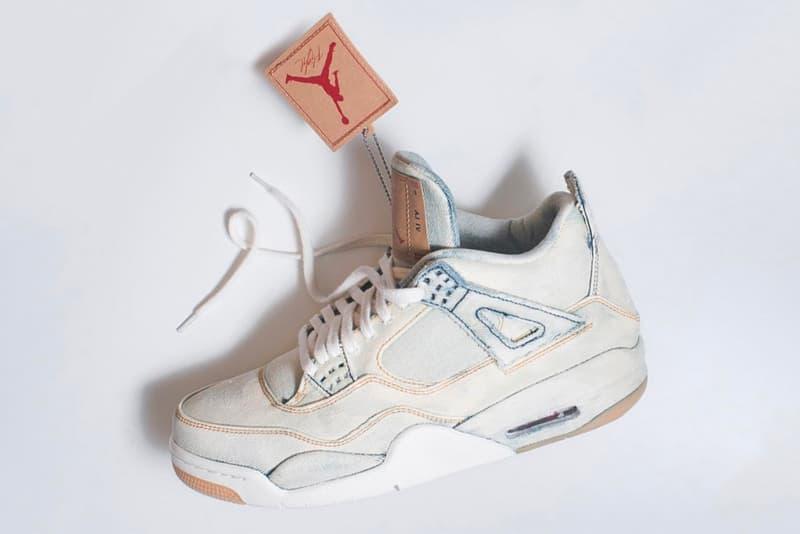 designer fashion d63e7 45704 Levi's® Air Jordan 4 All-White Bleach Custom | HYPEBEAST