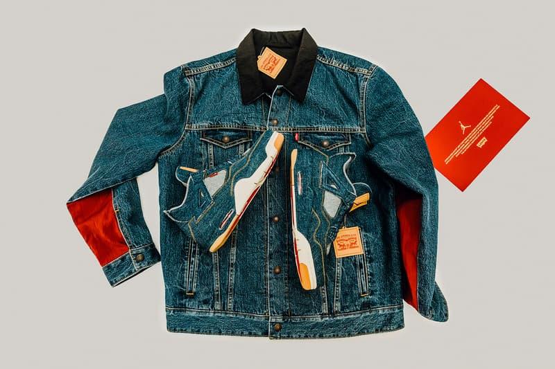 buy online e4e2e 08075 Levis Air Jordan 4 Jordan Brand footwear Nike Raffle Jacket Denim Sneakers  Release Info Drops January