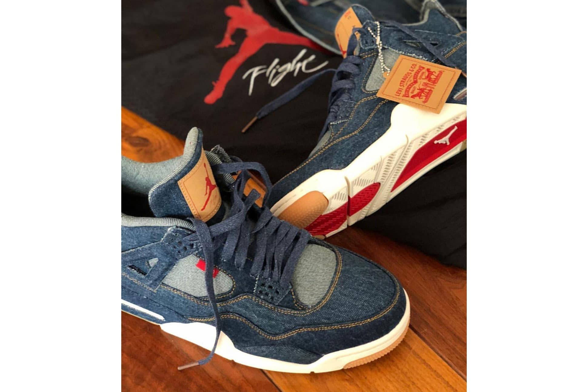 Eric Koston Reveals the Levi's x Air Jordan 4 Will Release With a Reversible Denim/Nylon Jacket
