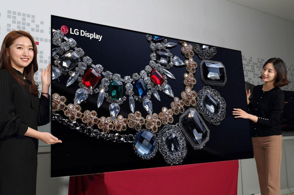 LG 88 inch 8k oled tv display ces 2018