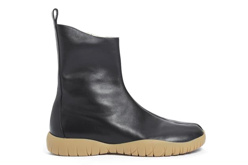 Maison Margiela Tabi Ankle Scuba Boot Black Leather Spring 2018