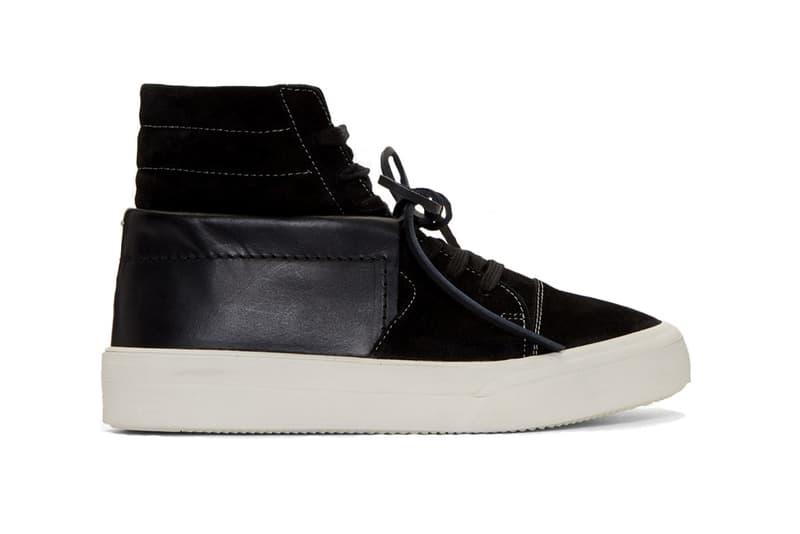Maison Margiela Hybrid Sneakers black suede buffed leather vans sk8 hi chukka moccasin