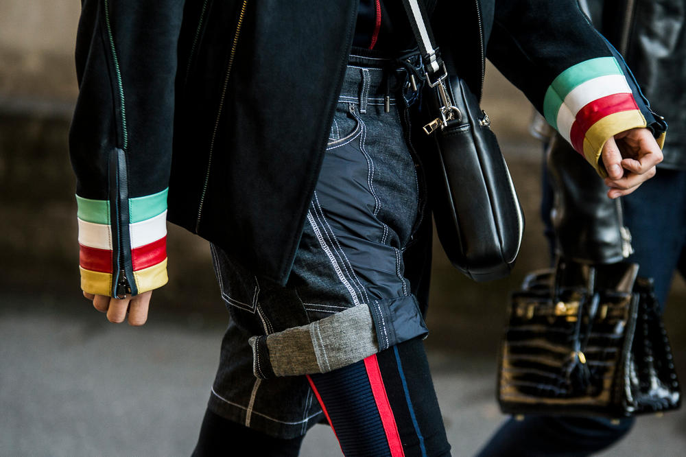 Milan Fashion Week Fall/Winter 2018 Street Style men's burberry gosha rubchinskiy streetsnaps supreme