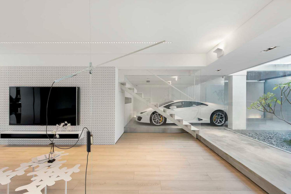 Millimeter Interior Design Hong Kong In-home garage Home Architecture
