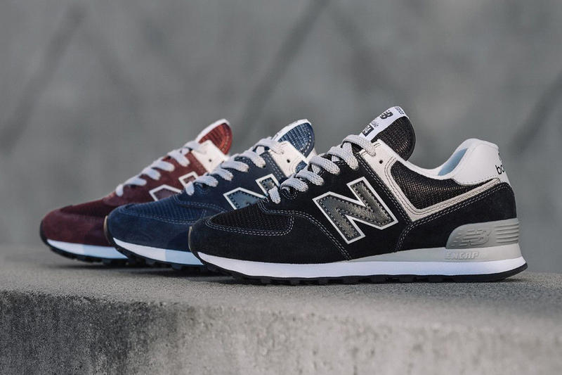 New Balance 574 Re Issue sneaker shoes ENCAP technology Massachusetts navy burgundy black running