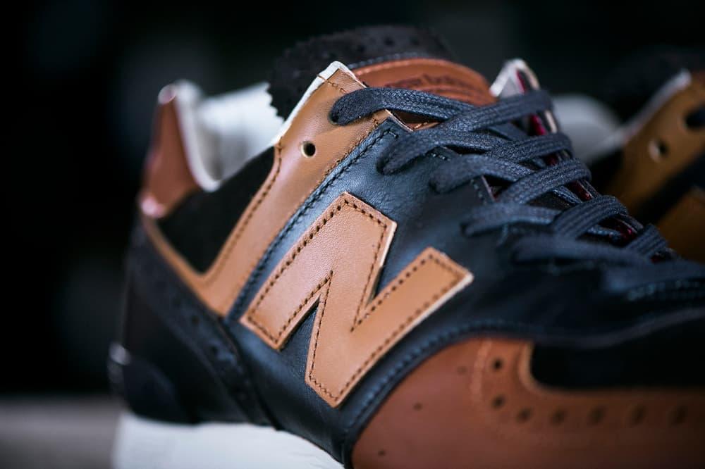 New Balance 576 Grenson Phase Two Traditional Footwear Brogue Kiltie Sneaker Full Grain Leather