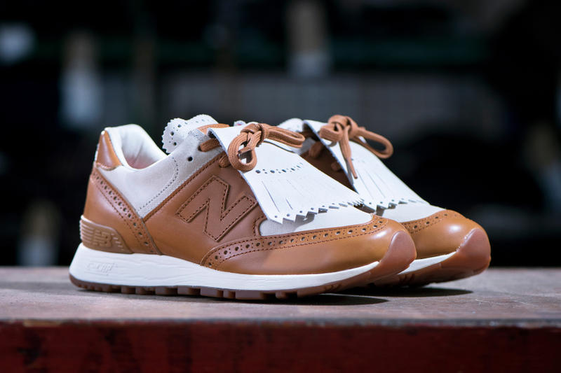 New Balance 576 Grenson Phase Two Traditional Footwear Brogue Kiltie Sneaker Full Grain Leather