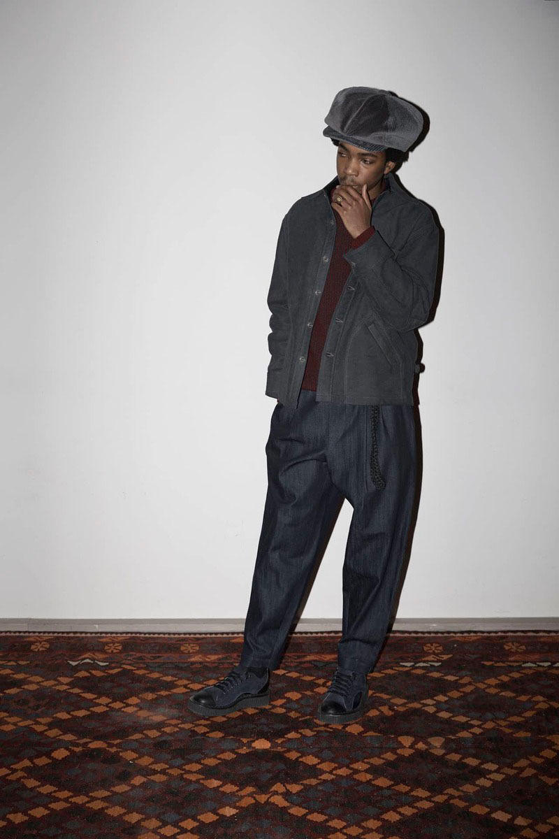 Nicholas Daley 2018 Fall Winter Collection red clay london fashion week mens lfwm