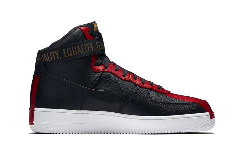Nike Air Force 1 High Black History Month 2018 Black Red Green February 1 Release