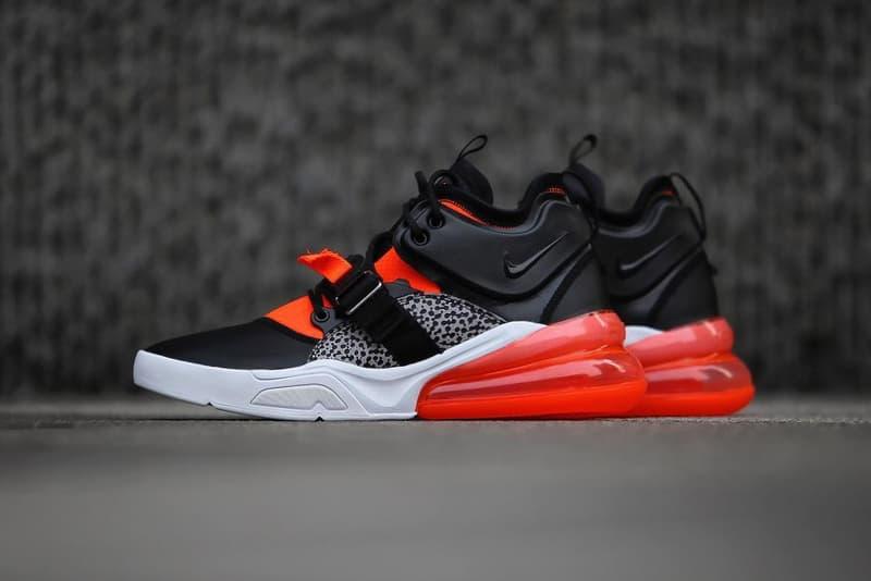 Nike Air Force 270 Safari Closer Look Orange Black