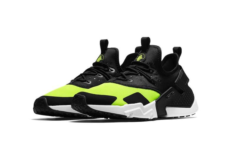 Nike Air Huarache Drift Black Volt White footwear