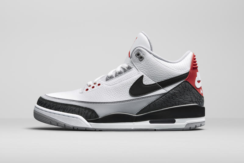 "8713de86fce180 Accompanied by a surprise AJ3 ""Black Cement"" release. Nike Air Jordan 3  Prototype Tinker Hatfield Sketch"
