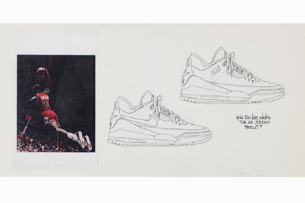 Nike Air Jordan 3 Prototype Tinker Hatfield Sketch