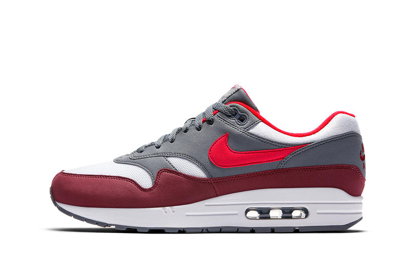 Nike Air Max 1 Infrared Red Cool Grey White January 11 2018 Release