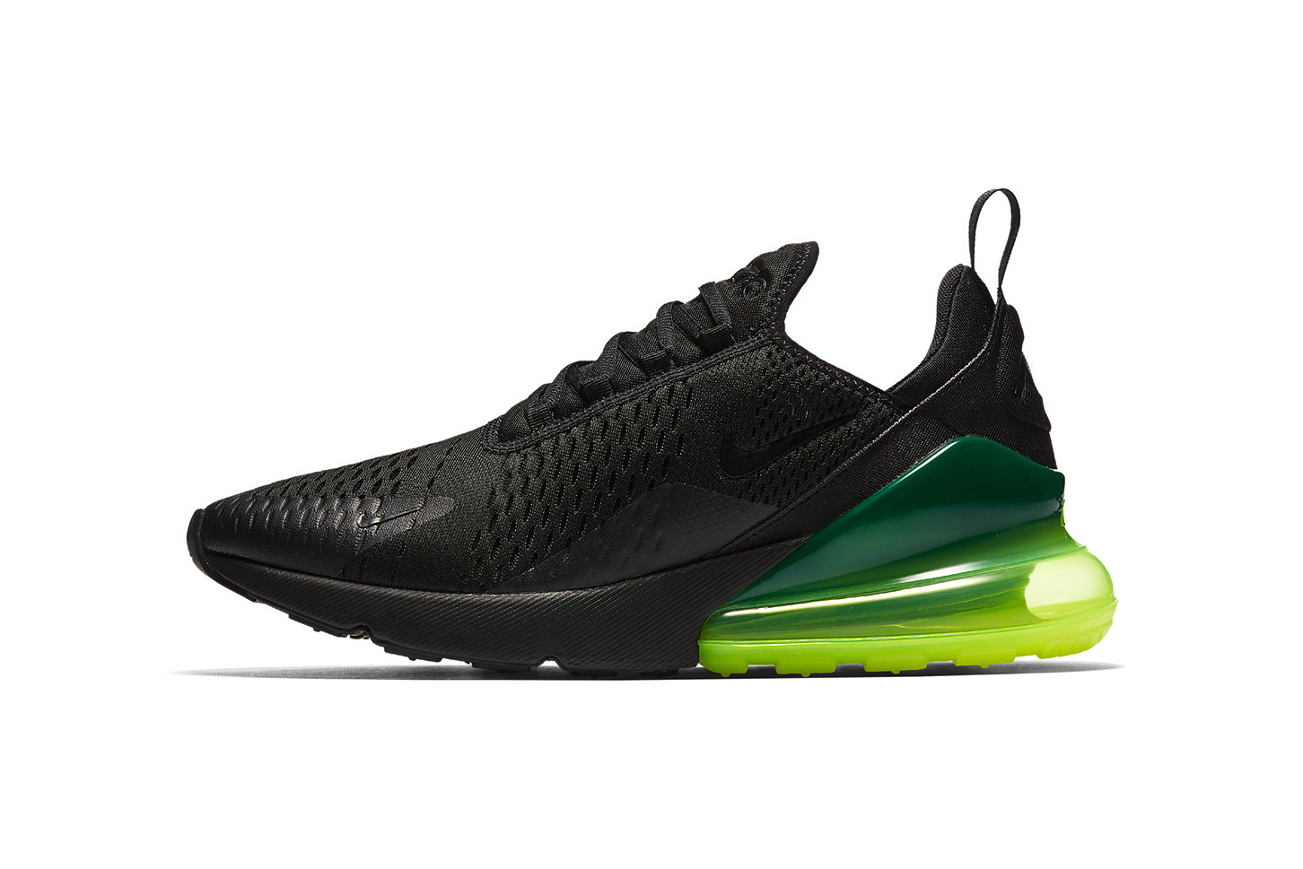 Nike Air Max 270 in Black/Neon Green