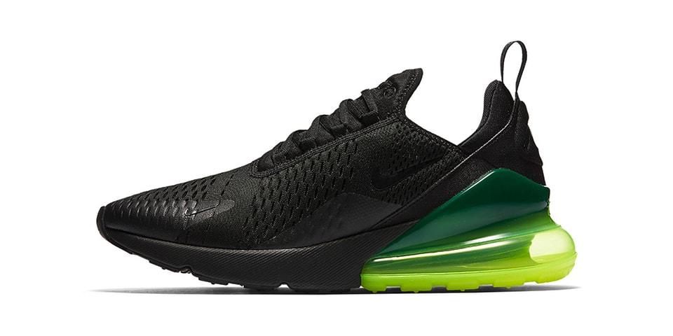e2f86eea4e51c7 Nike Air Max 270 in Black Neon Green