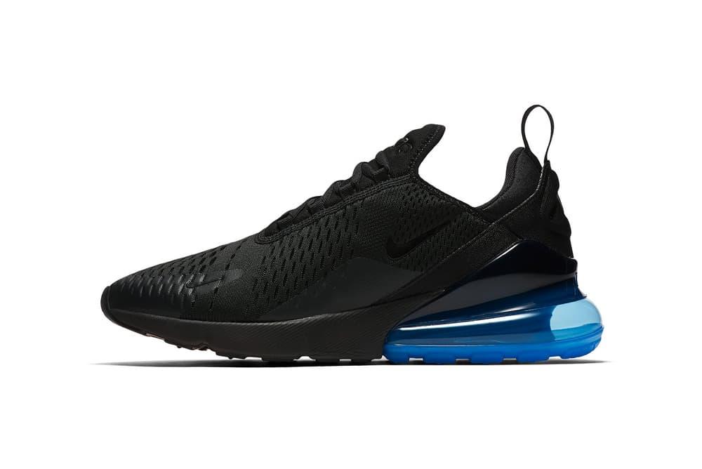 Nike Air Max 270 Black Photo Blue 2018 February 2 Release Date Info Sneakers Shoes Footwear AH8050 009